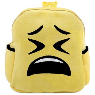 Baby Deluxe Kids' 'Show Your Emoticon' Tired-face Emoji Plush Backpack