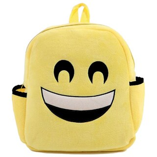 Baby Deluxe Little Kids' 'Show Your Emoticon' Happy Face With Squinting Eyes Emoji Face Plush Backpack