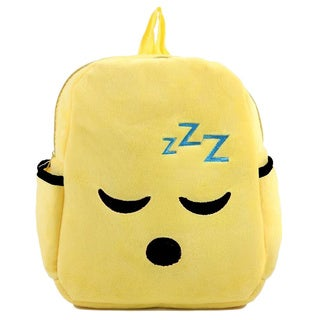 Baby Deluxe Little Kids' 'Show Your Emoticon' Boring Face Emoji Face Plush Backpack