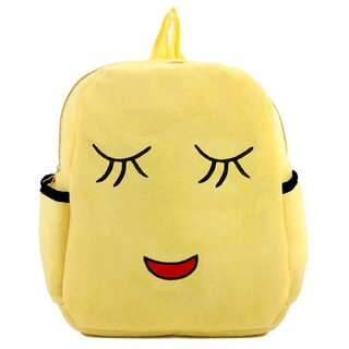 Baby Deluxe Little Kids' 'Show Your Emoticon' Shy Emoji Face Plush Backpack