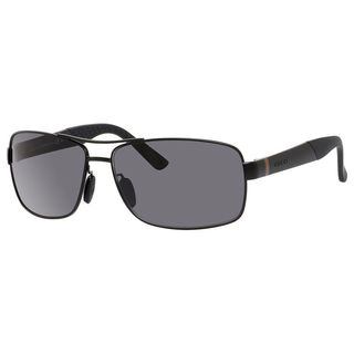 Gucci Mens GG2234/S 0C0Y Black Metal Rectangular Sunglasses