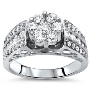 Noori 14k Gold 1ct TDW Diamond Flower Engagement Ring (H-I, I1-I2)