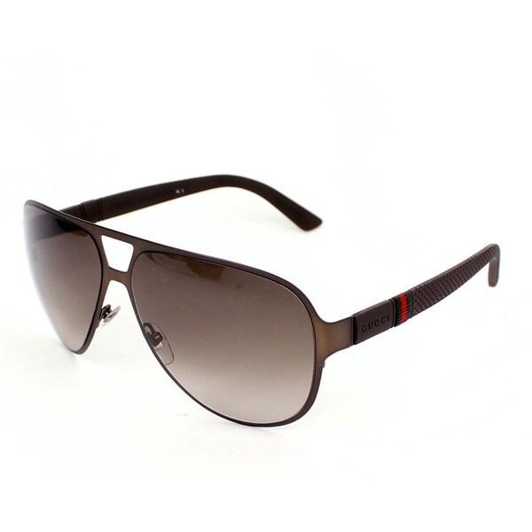495be2c8a9aa0 Shop Gucci GG2252 S 0R42 Mens Aviator Sunglasses - Free Shipping ...