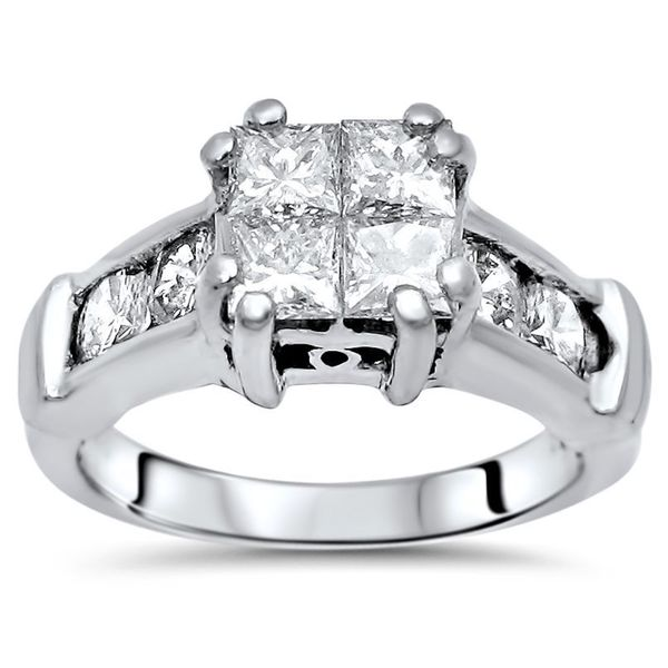 Shop Platinum 1 1 5ct Tdw Princess Cut Quad Diamond