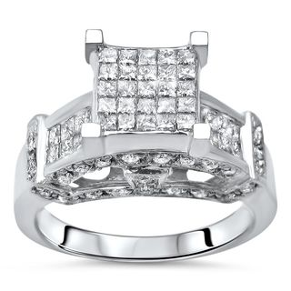 Noori 14k White Gold 1 2/5ct TDW Diamond Engagement Ring