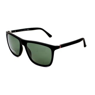Gucci Mens GG1132/S 0DL5 Black Rectangular Plastic Sunglasses