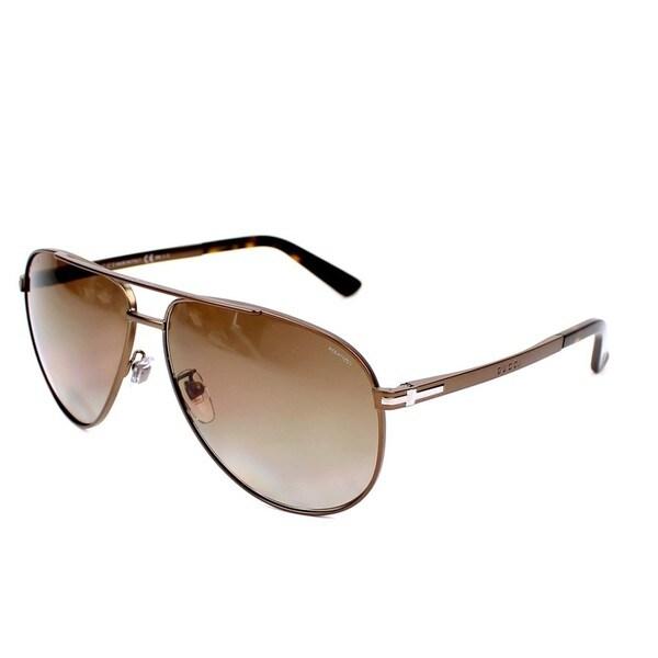 d79f8486f8e0a Shop Gucci GG2269 S 0ZG3 Mens Aviator Sunglasses - Free Shipping ...