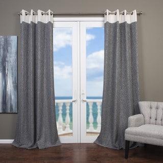 Elan Cotton-blend Banded Curtain Panel