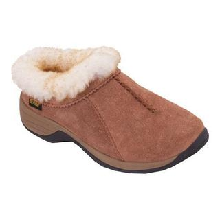 Women's Old Friend Snowbird II Clog Slipper Chestnut Leather
