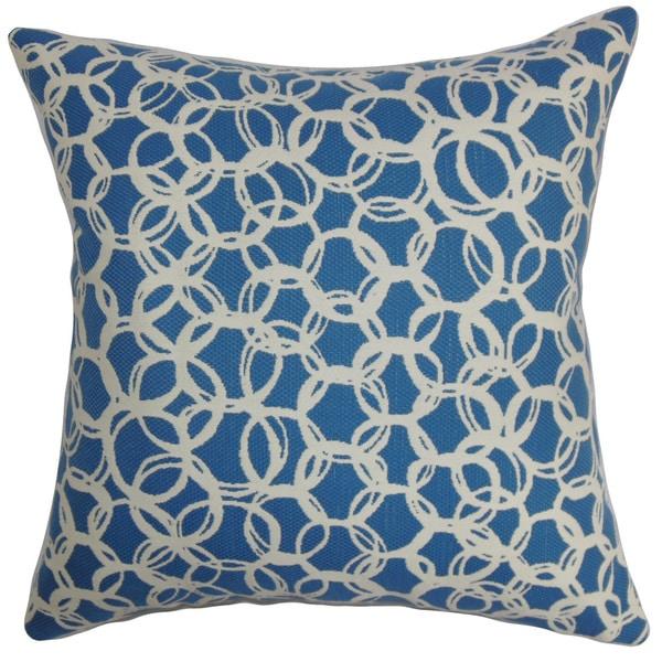 Makani Geometric Euro Sham Blue