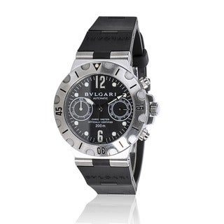Pre-Owned Bulgari Diagono Scuba SC 38 S Unisex Watch in Stainless Steel