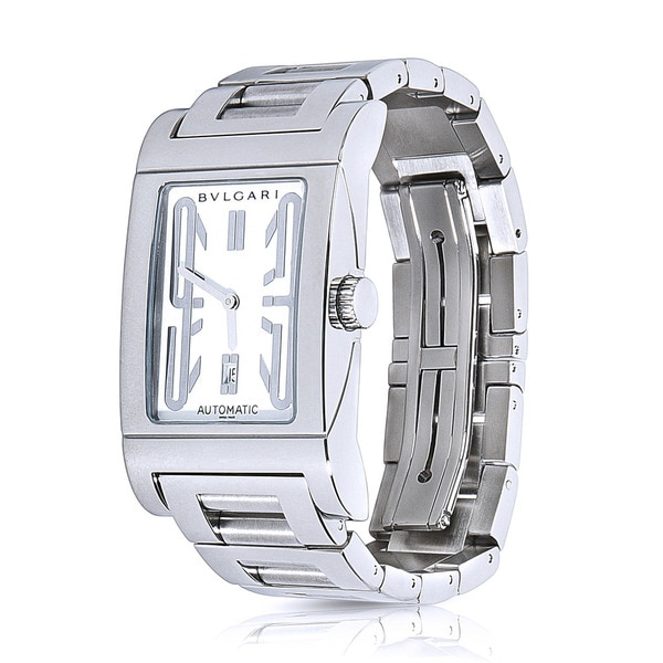 835c30b24912b Pre-Owned Bulgari Rettangolo Automatic Ladies Watch in Stainless Steel