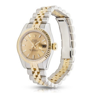 Pre-Owned Rolex Datejust 179173 Women's Watch in 18K Yellow Gold and Stainless Steel