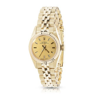 Pre-Owned Rolex Oyster Perpetual Vintage 67197 Ladies Watch in 14K Yellow Gold