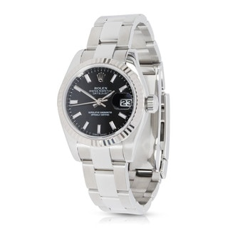 Pre-Owned Rolex Datejust Chronometer 179174 Women's Watch in 18K White Gold and Stainless Steel