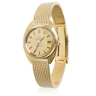 Pre-Owned Vintage 1960s Omega Constellation Auto Chronometer Watch in 18K Yellow Gold