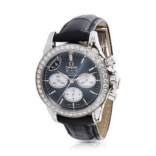 Unworn and Pre-Owned Omega Women's DeVille Chronograph 422.18.35.50.06001 Watch in Stainless Steel