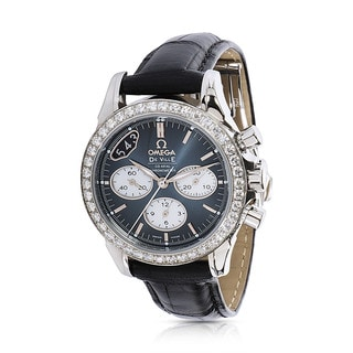 Unworn and pre-owned Omega DeVille Chronograph 422.18.35.50.06001 Ladies Watch in Stainless Steel