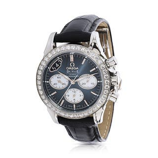 Unworn and Pre-Owned Omega Women's DeVille Chronograph 422.18.35.50.06001 Watch in Stainless Steel|https://ak1.ostkcdn.com/images/products/12736250/P19514667.jpg?impolicy=medium
