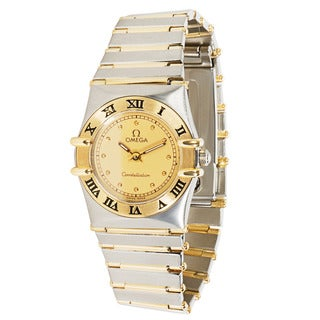 Pre-Owned 1980s Omega Constellation Ladies Watch in 18K Gold/Steel