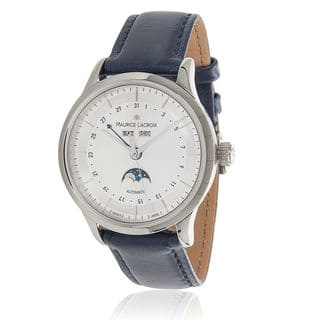 Pre-Owned Men's Maurice Lacroix Les Classiques Phase de Lune LC6068 Automatic Watch in Steel|https://ak1.ostkcdn.com/images/products/12736267/P19514683.jpg?impolicy=medium