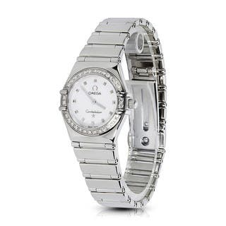 Pre-Owned Omega Women's Constellation 1465.71 Watch in Stainless Steel and Diamonds|https://ak1.ostkcdn.com/images/products/12736276/P19514687.jpg?impolicy=medium
