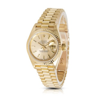 Pre-owned Rolex Datejust 69178 Ladies Watch in 18K Yellow Gold
