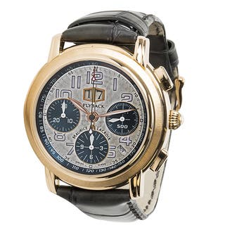 Pre-owned Maurice Lacroix Flyback Chronograph ML6178 Mens Watch in 18K Rose Gold|https://ak1.ostkcdn.com/images/products/12736283/P19514694.jpg?impolicy=medium