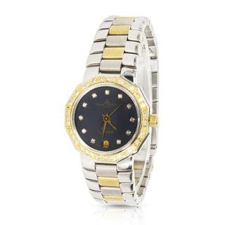 Pre-Owned Ladies Baume & Mercier Rivera 5231.050 Quartz Watch in 18K Gold/Steel & Diamond