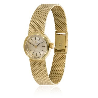 Pre-owned Vintage 1970s Omega Dress 511.122 Manual Wind Watch in 14K Yellow Gold