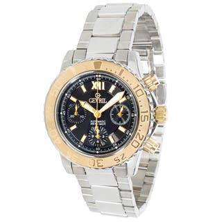 Pre-owned Gevril Sea Cloud R024 Mens Watch in 18K Yellow Gold & Stainless Steel (Option: Stainless Steel) https://ak1.ostkcdn.com/images/products/12736310/P19514763.jpg?impolicy=medium