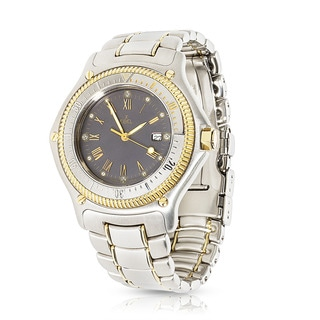 Pre-owned 1990s Ebel Discovery 183913 Quartz Watch 18K Yellow Gold/Steel