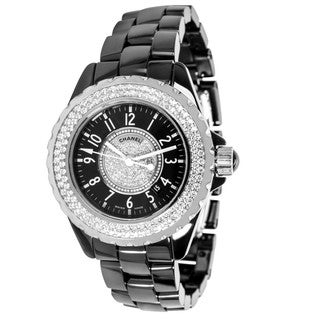 Pre-owned Chanel J12 H1708 Ladies Watch in Ceramic and Diamonds