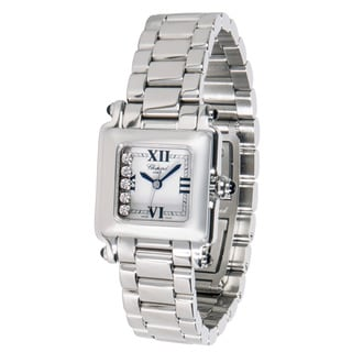 Pre-owned Chopard Happy Sport 27/8893-23 Ladies Watch in Stainless Steel and Diamonds