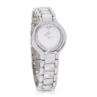 Pre-owned Ebel Beluga E9157427-10 Quartz Watch Steel & Diamond