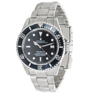 Pre-owned Rolex Sea Dweller 16600 Automatic Oyster Bracelet Watch in Stainless Steel
