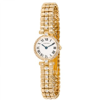 Pre-owned Cartier Vendome Ladies Watch in 18K Yellow Gold and Diamonds