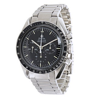 Pre-owned Omega Speedmaster Moonwatch 145.022.69.ST Mens Watch in Stainless Steel