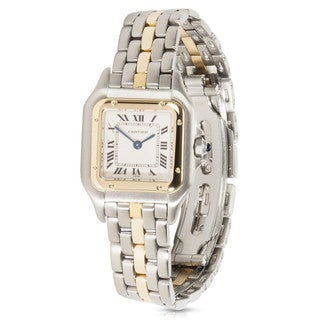 Pre-owned Ladies 1990s Cartier Panthere 18K Yellow Gold/Steel W25027B5 Quartz Watch
