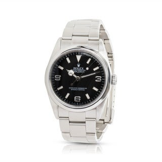 Pre-owned Rolex Explorer Chronometer 114270 Mens Watch in Stainless Steel