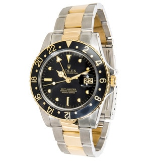 Pre-Owned Rolex GMT Master 16935 Mens Watch in 18K Yellow Gold & Stainless Steel