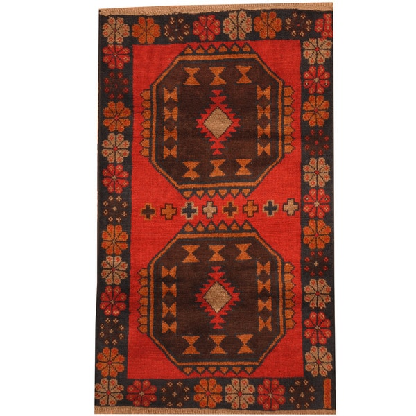 Herat Oriental Afghan Hand-knotted Tribal Balouchi Wool Rug (2'10 x 4'7) - 2'10 x 4'7