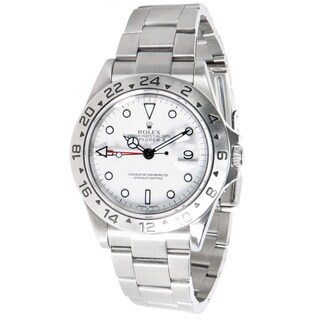 Pre-Owned Rolex Explorer II Chronometer 16670 Mens Watch in Stainless Steel
