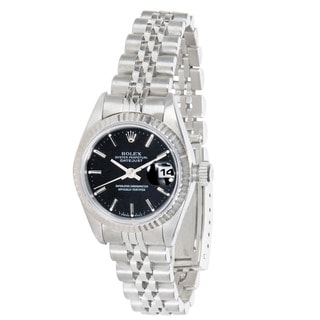 Pre-owned Rolex Datejust 69174 Ladies Watch in 18K White Gold and Stainless Steel