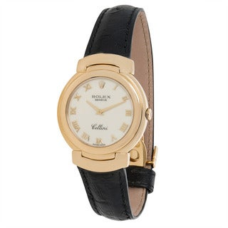 Pre-Owned 1990s Rolex Cellini Dress 6622 Quartz Watch in 18K Yellow Gold
