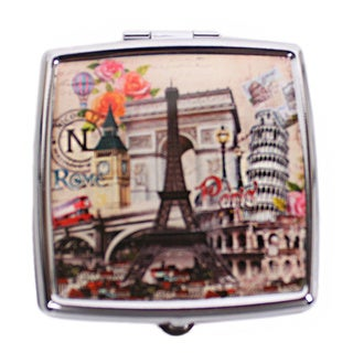 Nicole Lee Signature Print Europe Stainless Steel Square Pill Case