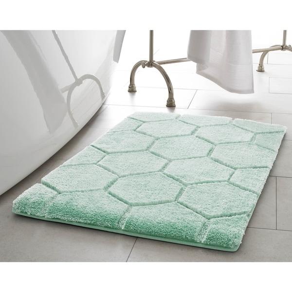 Laura Ashley Pearl Honeycomb 2-Piece Bath Mat Set