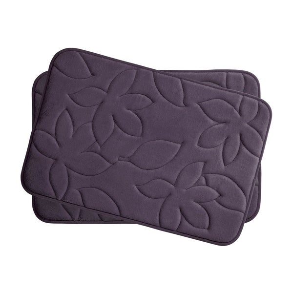 Blowing Leaves Memory Foam 2-piece Bath Mat Set with BounceComfort Technology