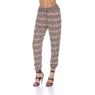 Stanzino Women's Mocha Polyester Printed Jogger Pants