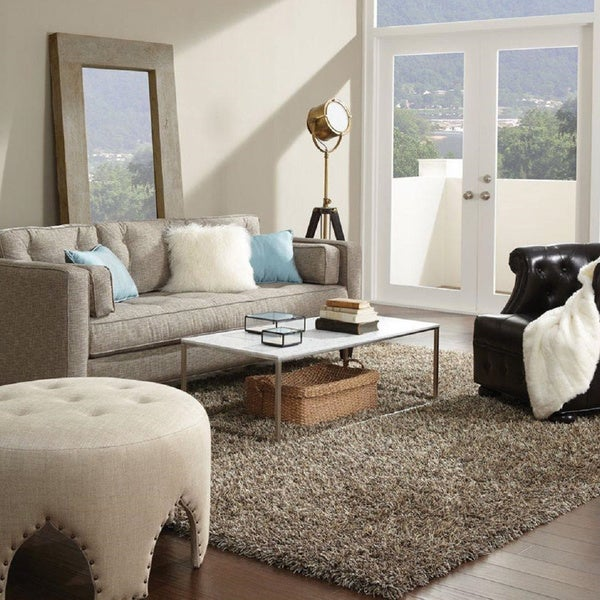 Shag Area Rugs For Living Room shaw bling collection super shag area rug (8' x 10') - free
